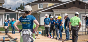 Blitz Build volunteers