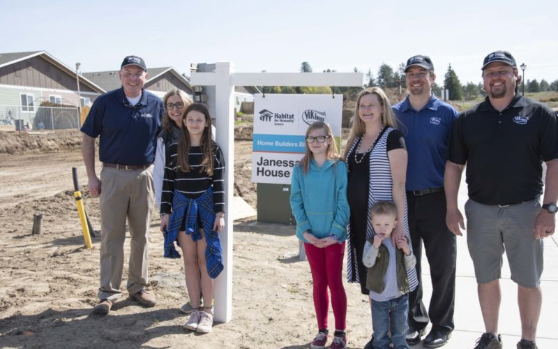 Habitat for Humanity-Spokane broke ground on home sponsored by Viking Homes and Spokane Home Builders Association